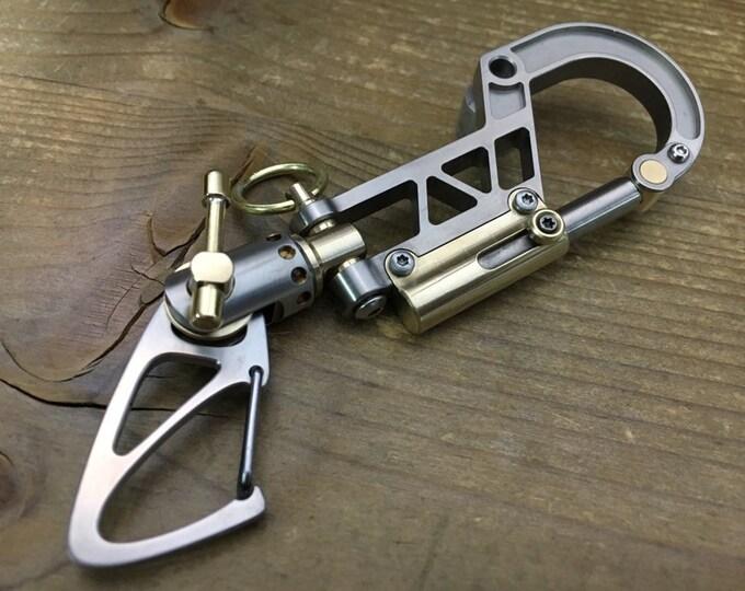 Titanium Bolt Carabiner. Swivel Clip / The Father