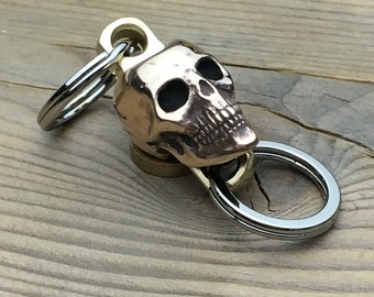 Swivel  Connector  / Human Skull /  for key or wallet chain.