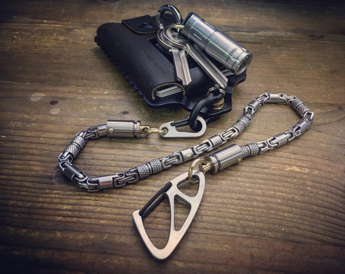 Small Wallet chain / Bi-Swivel / Cal. 9mm / Titanium  / Stainless Steels