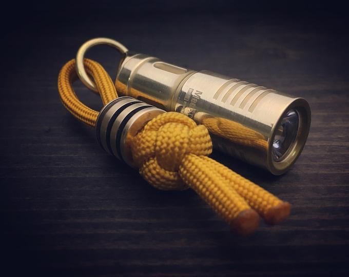 Brass  USB Flashlight / Brass Ring / Polished