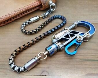 Top Game / The gunman  Custom (one-off)  Ti-Bolt Carabiner Walletchain