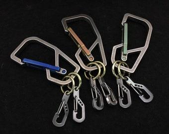 Titanium Key Carabiner  distributor / 2 Clip
