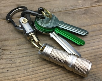 USB Rechargeable Flashlight with Swivel Key Chain /  Alu (L)