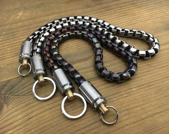 Hardware S. Steels Chain with double Ti-Swivels of Cal. 9mm caps