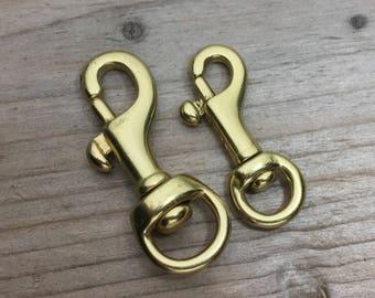 Swivel Bolt Snap, Solid Brass