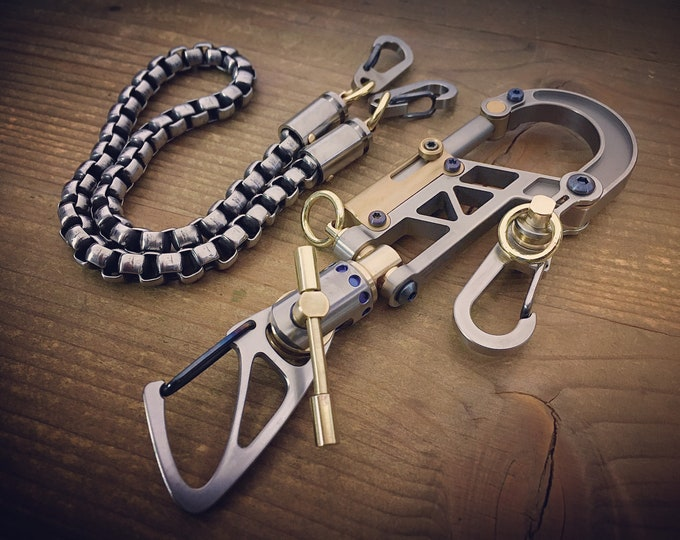 TOP Bolt Carabiner Walletchain or Keychain  / The Father Series