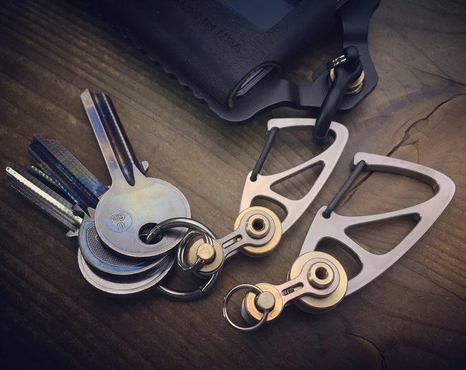 Titanium Key carabiner key chain
