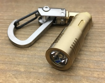 Custom Flashlight, Keychain / Rechargeable - Micro USB interface / Brass