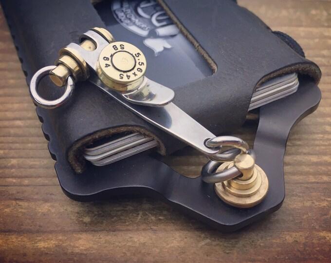 Suspension Clip Key ring, Pocket EDC One-off Custom TOP / Cap Bullet