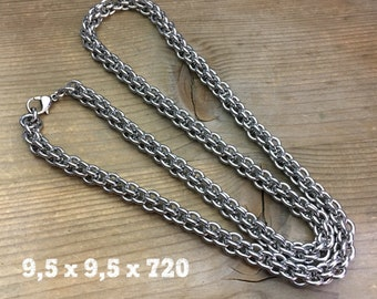 316L Stainless Steel Ring Chain / Multiple Ring Composition