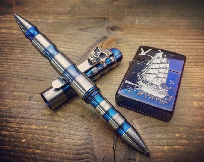 MOD / Skull Titanium Ballpoint Pen Multipurpose/ Aged Blue