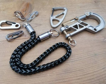 Black S. Steels Chain with Ti-Swivels of Cal. 9mm caps
