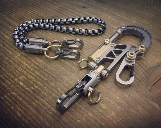 TOP / Titanium  Bolt Carabiner Walletchain or Keychain  / The Father Series-II