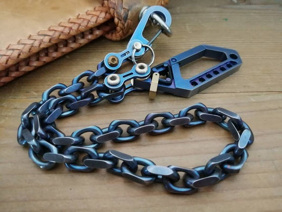 Biker Wallet Chain with Bike-Link / Petrol Texture