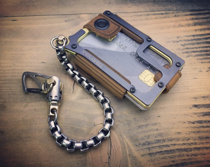 TOP-KIT Solid Brass Trayvax Contour MOD /  Edc Wallet Chain / E-3