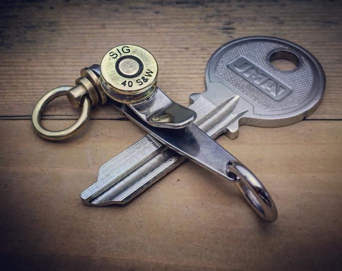 TOP / Suspension Clip Key ring, Pocket EDC / One-off Custom  / Cal.40 S&W