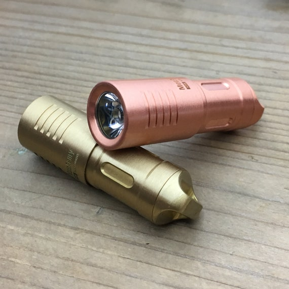 Edc Flashlight / 130 Lumens / Rechargeable - Micro USB interface /  Copper or Brass
