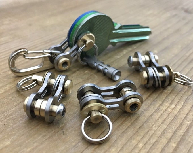 Ti/Bike-Link Connector with ring or Clip / TITANIUM