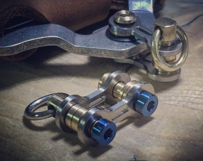 TOP Ti/Bike-Link Connector with solid ring / TWO OPTIONS