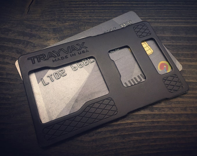 RFID-blocking Cage insert designed to keep credit cards and personal information safe.