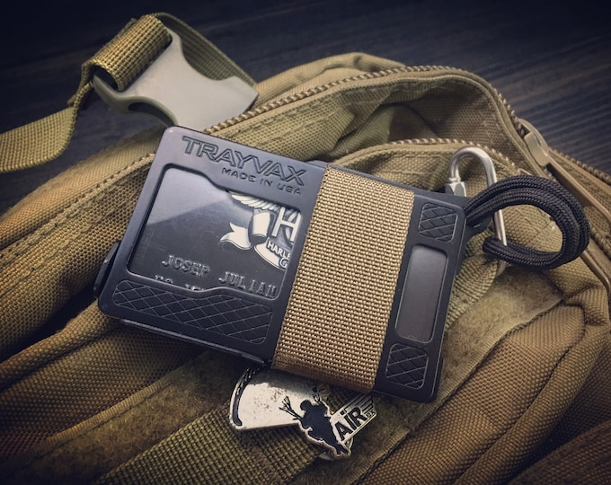 Trayvax Armored Wallet / RFID blocking  / Stainless Steels / 3 Color Options