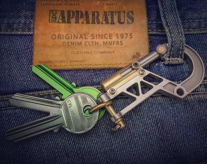 Titanium Bolt Carabiner EDC Keychain / Base