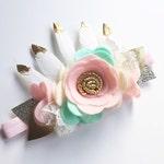 Baby Crown Headband - Floral Hair Accessories - Baby Flower Headbands - Wild One Crown - Birthday Headband - Floral Headpiece