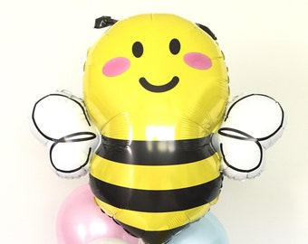 Bumble Bee Balloons   Bumble Bee Baby Shower Decor   Mommy To Bee Baby Shower   Yellow and Gray Balloons   What Will It Bee Gender Reveal