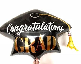 Graduation Balloons   Graduation Party Decor   Class of 2021   Congrats Grad   Graduation Party Photo Props   Virtual Graduation Party Decor