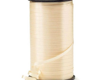 """Ivory Balloon Ribbon   Ivory Balloon String   Ivory 3/16"""" Crimped Curling Ribbon   Roll of Ribbon   Ivory Ribbon   Ivory Curling Ribbon"""