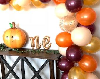 Fall Balloon Garland DIY Kit   Blush and Burgundy Bridal Shower Decor   Fall Baby Shower   Little Pumpkin First Birthday   Fall In Love
