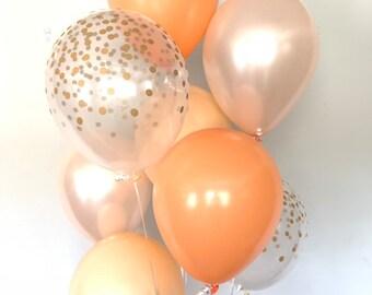 Orange Balloons   Little Cutie Balloons   Orange and Blush Balloons   Tangerine Balloons   Citrus Bridal Shower Decor   Citrus Wedding