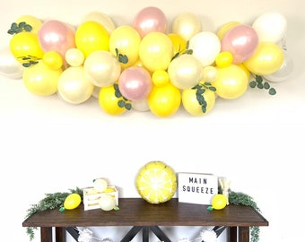 Pink Lemon Balloon Garland   She Found Her Main Squeeze Bridal Shower Decor   Love is Sweet Baby Shower   It's Sweet To Be One First Birthda