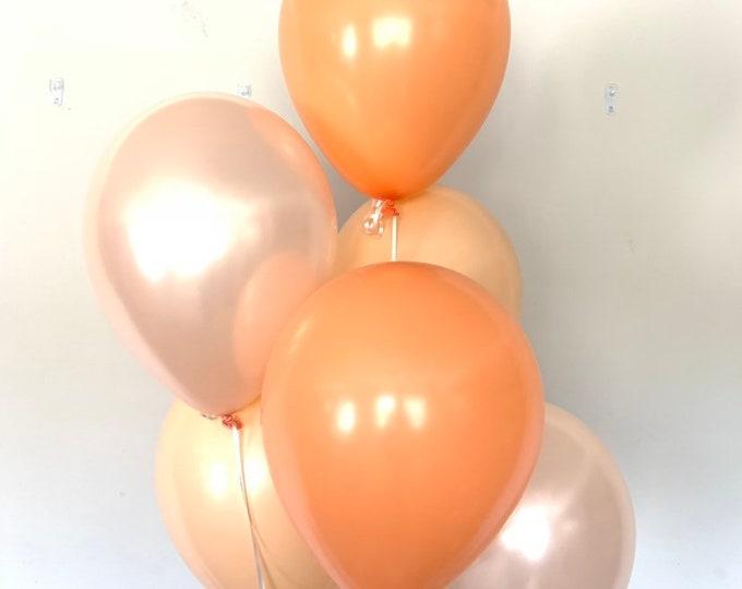 Orange Balloons   Little Cutie Balloons   Orange and Blush Balloons   Sweet as a Peach Balloons   Citrus Bridal Shower Decor  Citrus Wedding