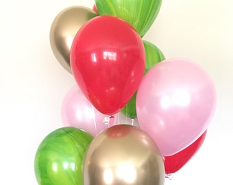 Watermelon Balloons   Watermelon Birthday Balloons   Summer Party Decor   Its Sweet To Be One Balloons   Two Sweet Birthday Party Decor