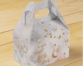 Twinkle Little Star Favor Box   Gender Reveal Baby Shower   Twinkle Little Star Baby Shower Favors   Little Star First Birthday