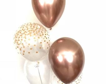 NEW Chrome Rose Gold Balloons   Rose Gold Chrome Balloons   Chrome Balloons   Rose Gold Birthday Decor   Rose Gold Bridal Shower Decor