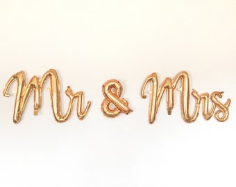 Mr & Mrs Balloons   Mr and Mrs Signs   Gold Wedding Decor   Mr and Mrs Banner    Engagement Party Decor   Gold Balloons