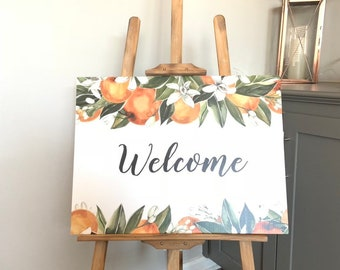 Citrus Welcome Sign   Citrus Bridal Shower   Little Cutie Baby Shower   A Little Cutie is on the Way   Citrus Birthday Party