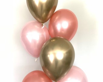 Pink Blush Balloons   Blush and Rose Gold Balloons   Rose Gold and Blush Balloons   Blush Bridal Shower Decor   Blush Baby Shower