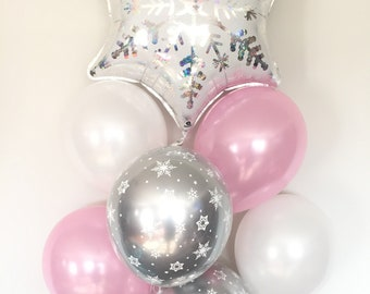 Baby It's Cold Outside Baby Shower Decor   Winter Baby Shower   Snowflake Balloons   Winter ONEderland Birthday Balloons