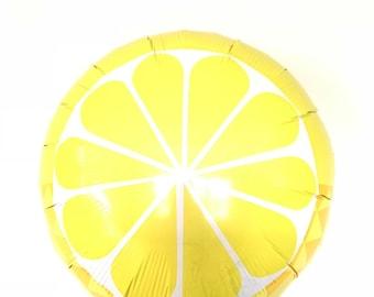 Lemon Balloon   Main Squeeze Bridal Shower Decor   Fruit Balloons   Tropical Baby Shower Decor   Lemonade Birthday Balloons