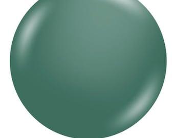 "Jumbo Evergreen Balloons   24"" Dark Green Balloon   Large Green Balloons   Dark Green Bridal Shower Decor   Evergreen Wedding Decor"