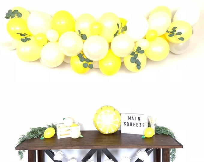Lemon Balloon Garland   She Found Her Main Squeeze Bridal Shower Decor   Love is Sweet  Baby Shower   It's Sweet To Be One First Birthday Pa