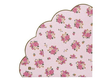 Let's Partea Bridal Shower Decor   Lets Partea Baby Shower   Vintage Tea Party Decor   Tea Party Napkins   Floral Paper Napkins