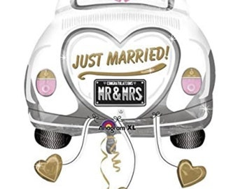 Just Married Balloons   Congratulations Mr & Mrs Balloons   Wedding Balloons   Newlywed Balloons   Just Married Sign