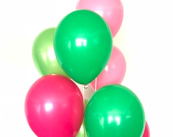 Watermelon Balloons | Watermelon Birthday Balloons | Pink and Green Balloons | Its Sweet To Be One Balloons | Two Sweet Birthday Party Decor