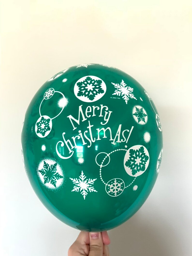 Merry Christmas Balloons Christmas Party Decor Snowflake Balloons Kids Christmas Party Green Christmas Balloons