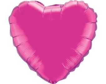 Hot Pink Heart Balloons | Candy Heart Balloons | Hot Pink Baby Shower Decor | Pink Heart Bridal Shower | Valentine's Day Balloons