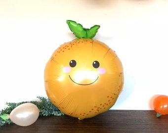 Little Cutie Balloons | Orange Mylar Balloons | Little Cutie Baby Shower Balloons | Love is Sweet Bridal Shower Decor | Cutie First Birthday